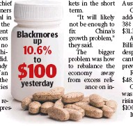 ??  ?? Blackmores up 10.6% to $100 yesterday