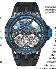 ??  ?? Things should get racy with Roger Dubuis' partnership with Pirelli.