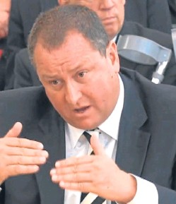 ??  ?? Mike Ashley giving evidence to the Business Select Committee. He agreed that Sports Direct had become too big for him alone to manage, and vowed to review the firm's corporate governance structure. Picture: PA.