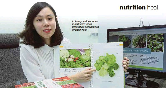 ??  ?? Loh says sulforaphane is activated when vegetables are chopped or eaten raw.