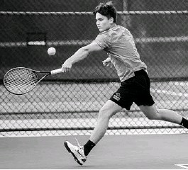 ?? ORLANDO SENTINEL WILLIE J. ALLEN JR./ ?? Olympia High School senior Alexey Timokhine won the No. 1 singles title in the Class 4A District 9 tennis tournament on Wednesday to remain undefeated for the season.
