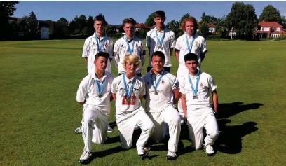 ??  ?? The winning under-15s cricket team at Marple Hall School