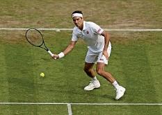 ?? GETTY ?? Roger Federer gab sich gestern in Wimbledon keine Blösse.