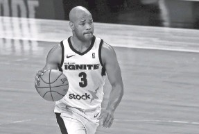 ?? MIKE EHRMANN/GETTY IMAGES ?? Jarrett Jack, 37, has been playing in the G League this winter and mentoring 2021 NBA draft prospects who skipped college.