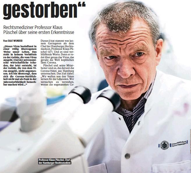 ??  ?? Professor Klaus Püschel, Chef der Hamburger Rechtsmedizin