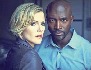 ?? Murder In The First, ?? THREAT: Kathleen Robertson as Inspector Hildy Mulligan and Taye Diggs as Inspector Terry English in M-Net, Tuesday at 9.30pm.