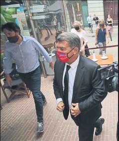 ?? FOTO: PEP MORATA ?? Joan Laporta a su llegada al Palau de la Música Catalana