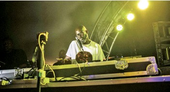 ?? — AFP photo ?? DJ Black Coffee performs his show at Altitude Beach club in Fourways, Johannesburg.