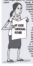 ??  ?? my voice our equal future