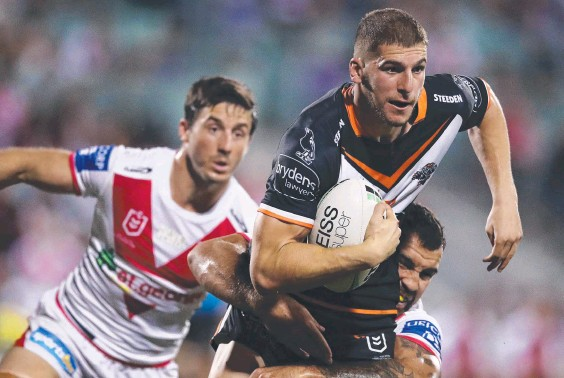 ??  ?? Adam Doueihi will move from five-eighth to centre for Friday's clash with Newcastle in Brisbane. Picture: Matt King/Getty Images