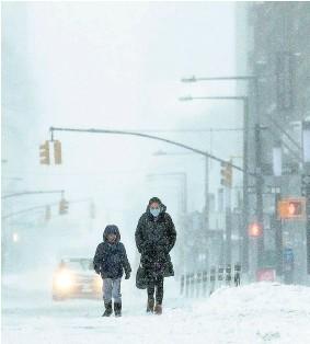 ?? EFE ?? Imagen inusual de Nueva York.
