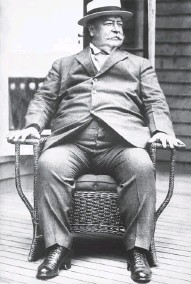 ?? ASSOCIATED PRESS ?? An ailing former president William Howard Taft lounges in 1930 after resigning as chief justice of the United States.