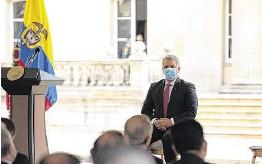 ??  ?? El presidente Iván Duque presentó el proyecto de Inversión Social, que recibió el respaldo tanto de empresarios y gremios como de miembros del Congreso.