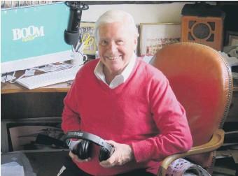 ??  ?? Diddy David Hamilton in his 'shed' studio at his farmhouse near Horsham