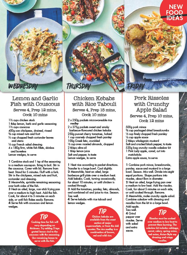 pressreader new idea 2018 04 16 lemon and garlic fish with couscous