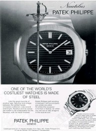 ??  ?? When it was first launched during the quartz crisis, the Patek Philippe Nautilus was deliberately priced and marketed as a luxury item, whose craftsmanship elevated it above the precise but pedestrian quartz watches