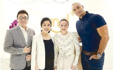 ??  ?? From left: MD+ founder Dr. Ken Ikeda, MD+ president Dr. Therese Pangilinan-Ikeda, Cheska and Doug Kramer at the MD+ BGC Clinic opening last February