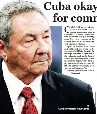PressReader - Jamaica Gleaner: 2013-09-27 - Cuba okays tax breaks