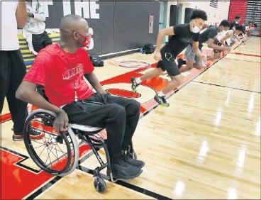 "?? JOE MAHONEY/ TIMES-DISPATCH ?? NewMatoaca High School basketball coach Nick Burd says his 2005 car crash ""changed my outlook on everything."""
