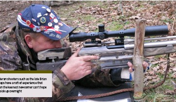 ??  ?? Veteran shooters such as the late Brian Heaps have a raft of experience that even the keenest newcomer can't hope to pick up overnight