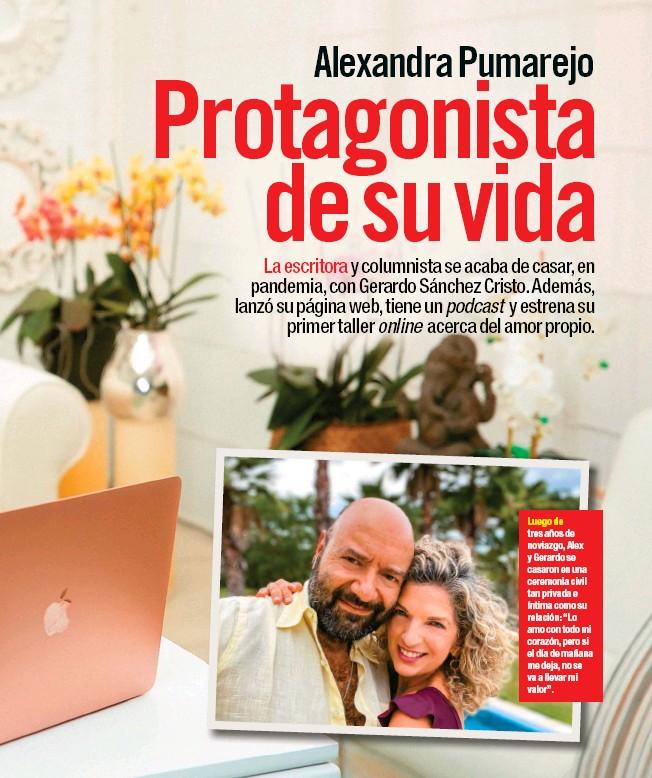 """??  ?? Luego de tres años de noviazgo, Alex y Gerardo se casaron en una ceremonia civil tan privada e íntima como su relación: """"Lo amo con todo mi corazón, pero si el día de mañana me deja, no se va a llevar mi valor""""."""
