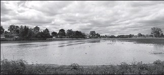 ?? Star photo: Dan Janisse ?? SOGGY SCENE: This field on Malden Road near LaSalle was still covered in water Monday after heavy weekend rains.