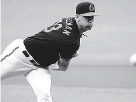 ?? JULIO CORTEZ/AP ?? Orioles starting pitcher Thomas Eshelman did not allow a hit until the fifth inning starting in place of left-hander Bruce Zimmermann after he landed on the 10-day injured list with left bicep tendinitis.