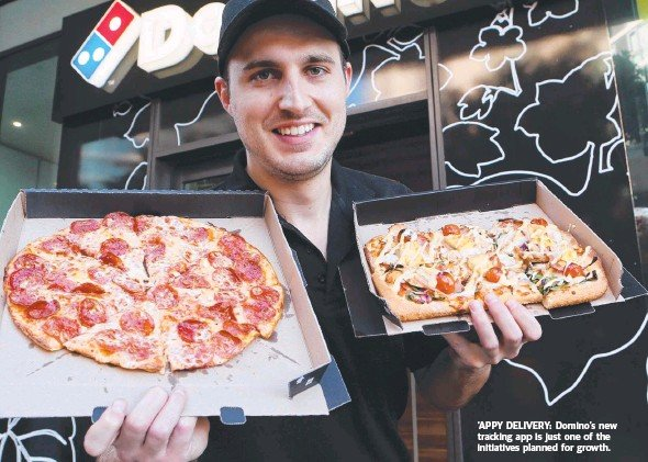 ??  ?? 'APPY DELIVERY: Domino's new tracking app is just one of the initiatives planned for growth.