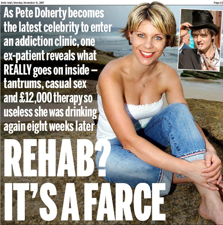 ??  ?? Road to recovery: Rachael Lloyd. Inset, Pete Doherty 23