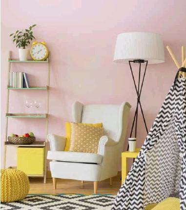 ??  ?? Puede emplear el rosa pastel para pintar su habitación.