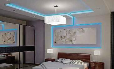 Pilihan Warna Rekaan Dan Jenis Lampu Pada Siling Kapur Ini Menambahkan Keunikan Dekorasi Bilik Tidur
