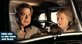??  ?? Eddie with co-star Dame Judi Dench ■ Six Minutes To Midnight is on Sky Cinema and Now TV now