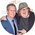 ?? JASON MERRITT, GETTY IMAGES ?? With Toronto's Thom Powers at the premiere Thursday.