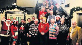 ??  ?? Flashback Happier times at the 2019 Christmas party for Heartland FM staff and volunteers