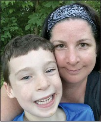 ?? SUBMITTED PHOTO ?? Upper Providence resident Stacy Buechele, pictured with her son Ozzie, recently joined the Media-Upper Providence Free Library Board of Trustees.