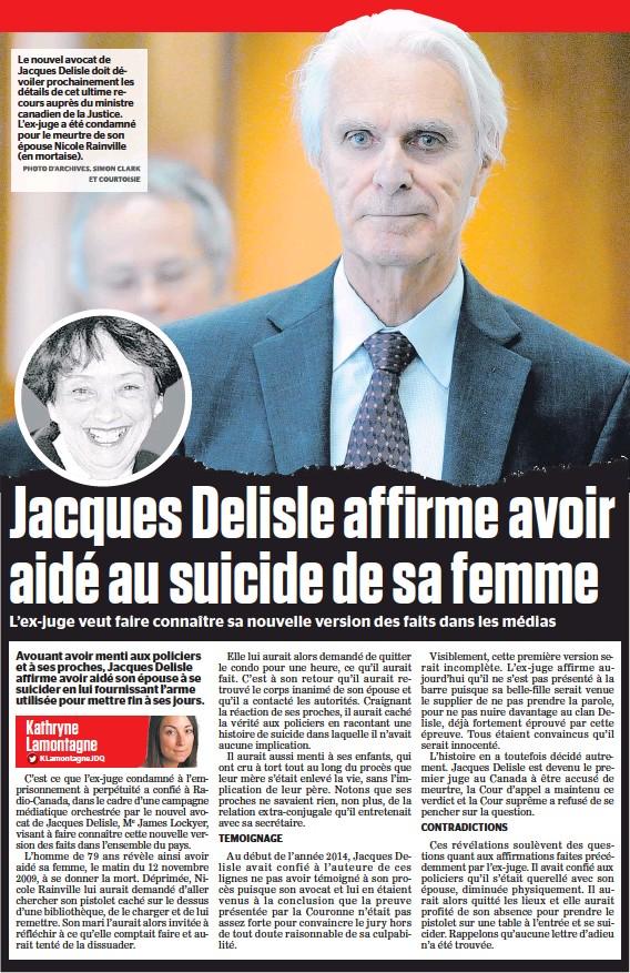 ?? Kathryne Lamontagne KLamontagneJDQ ?? Le nouvel avocat de Jacques Delisle doit dévoiler prochainement les détails de cet ultime recours auprès du ministre canadien de la Justice. L'ex-juge a été condamné pour le meurtre de son épouse Nicole Rainville (en mortaise).