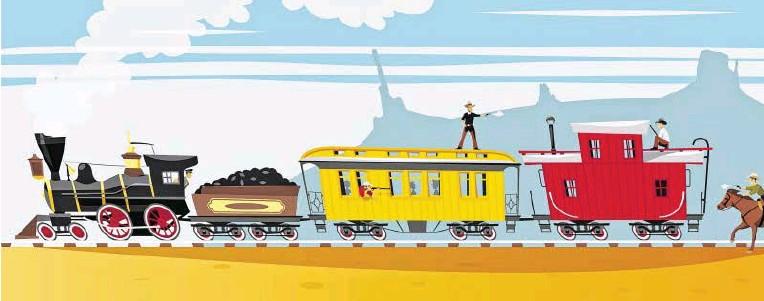 ?? BILD: SN/JOHNNYKNEZ - STOCK.ADOBE.COM ?? So schauen der Mythos und das Klischee von Amerika aus: Siedler und Eisenbahnen erobern den Wilden Westen, aber Indianer und Pistolenhelden sind zu besiegen.