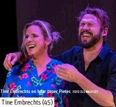 ?? FOTO ELS MALFLIET ?? Tine Embrechts en haar broer Pieter.