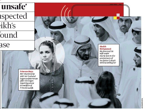 ??  ?? Sheikh Mohammed He divorced his wife under sharia law on the anniversary of her father's death without telling her