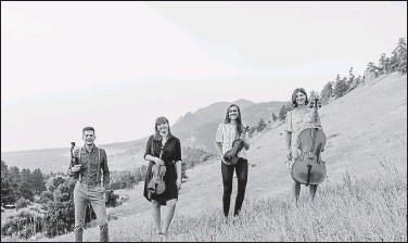 ?? Matt Umland Photography / Courtesy photos ?? Altius Quartet will perform in the parking lot of the Dairy Arts Center in Boulder Sunday as part of the Backporch Series. Tickets are $25.