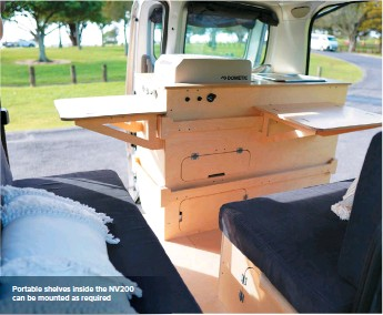??  ?? Portable shelves inside the NV200 can be mounted as required