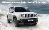 ??  ?? El Renegade amplía la oferta TT de Jeep.