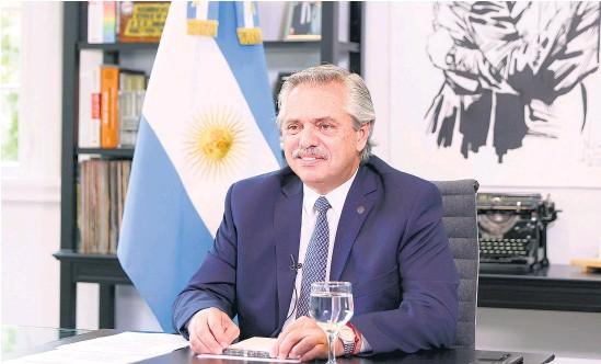 ?? NA ?? Alberto Fernández participó del Foro de Davos de manera virtual.