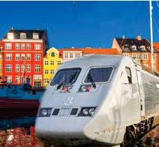 ??  ?? TUFFA NER TILL STRØGET. SJ börjar med snabbtåg mellan Stockholm-Köpenhamn. Bilden är ett kollage.