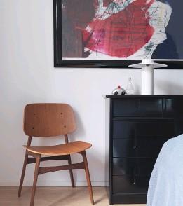 """??  ?? Michael am Tisch """"A825""""von Arne Jacobsen. Stuhl """"Søborg"""", geräucherte Eiche, von Fredericia. KURZ NOTIERT FORMSCHÖN"""