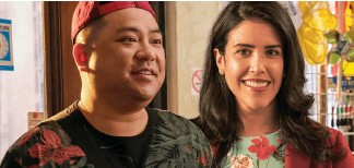 ?? Run the Burbs, while Strays. ?? Andrew Phung, who plays Kimchee on Kim's Convenienc­e, is cocreating Nicole Power will continue in her role as Shannon Ross in the new ensemble sitcom