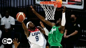 ??  ?? Nigeria in action against USA in an Olympics warmup game