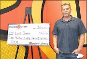 ?? PHOTO COURTESY OF MARYLAND LOTTERY ?? Earl Carter from Newark recently won $250,000 with a Maryland Lottery CASH Scratch off ticket, which he purchased at Wawa on Elkton Road.