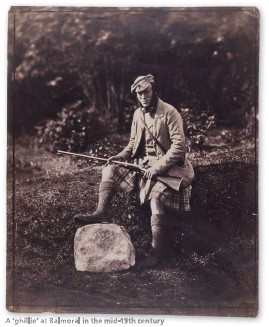 ??  ?? A 'ghillie' at Balmoral in the mid-19th century