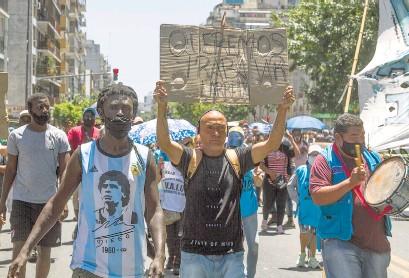 ?? Bernardino Avila ?? Segundo día de protestas de los manteros.